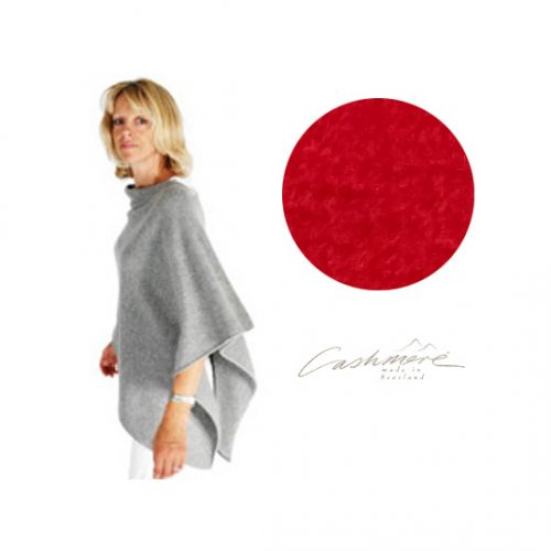 Ruby Red Cashmere Wrap